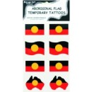 Aboriginal Flag Temporary Tattoos