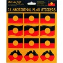 Set of 12 Aboriginal Flag Stickers